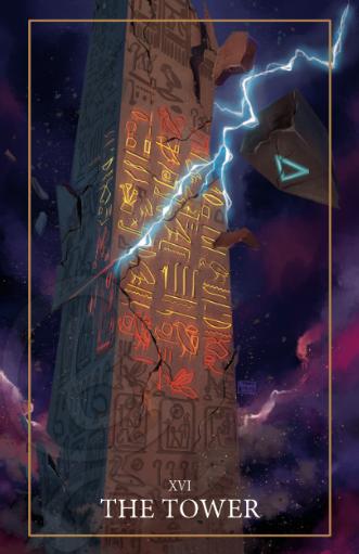 The Tower Tarot Print